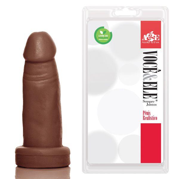 Protese 4 - 10x3 cm na cor marrom - Ref. ADÃO01M/0633