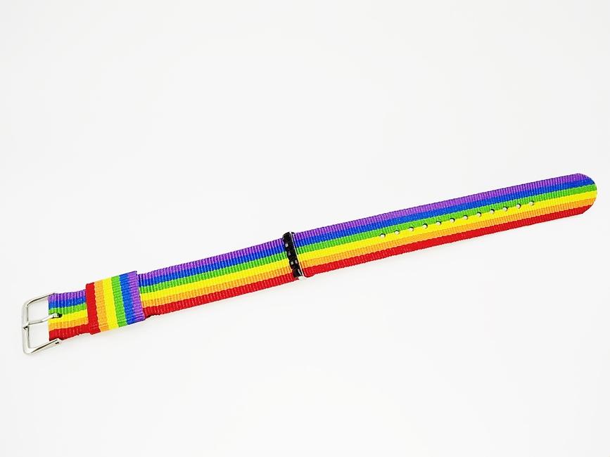 Pulseira Arco-íris LGBT Decorado Artesanal - Ref. 30/0119
