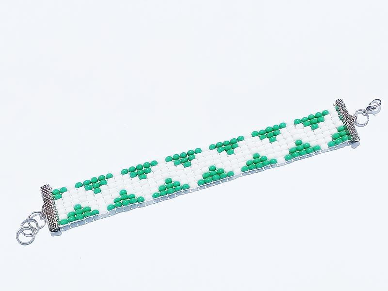 PULSEIRA MIÇANGA BIJU DENNY C FECHO - REF MF 600/0119 Verde Branca