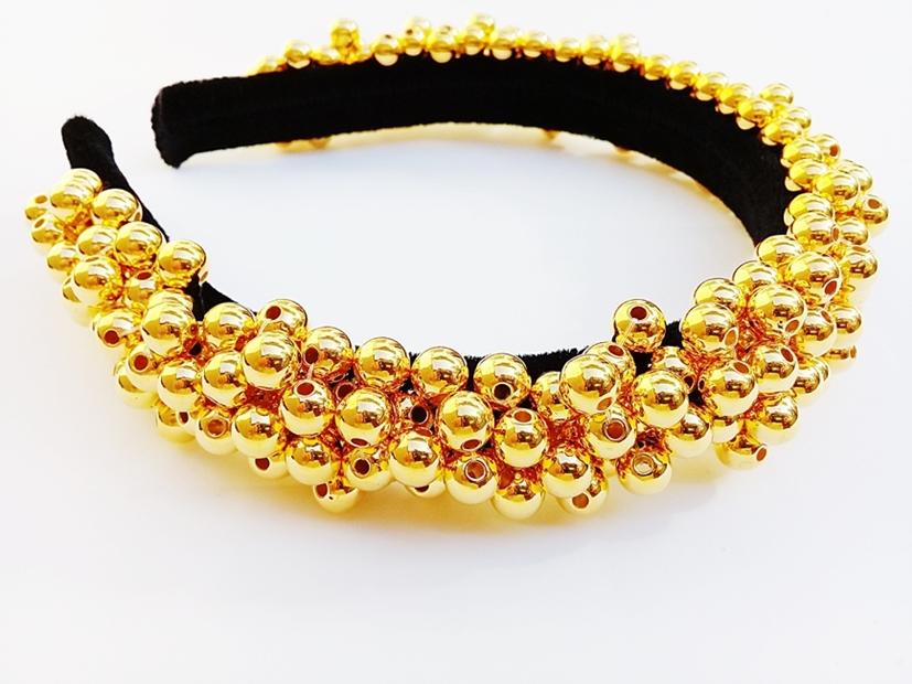 TIARA DECORADA ARTESANAL  GOLD - REF 900/0126