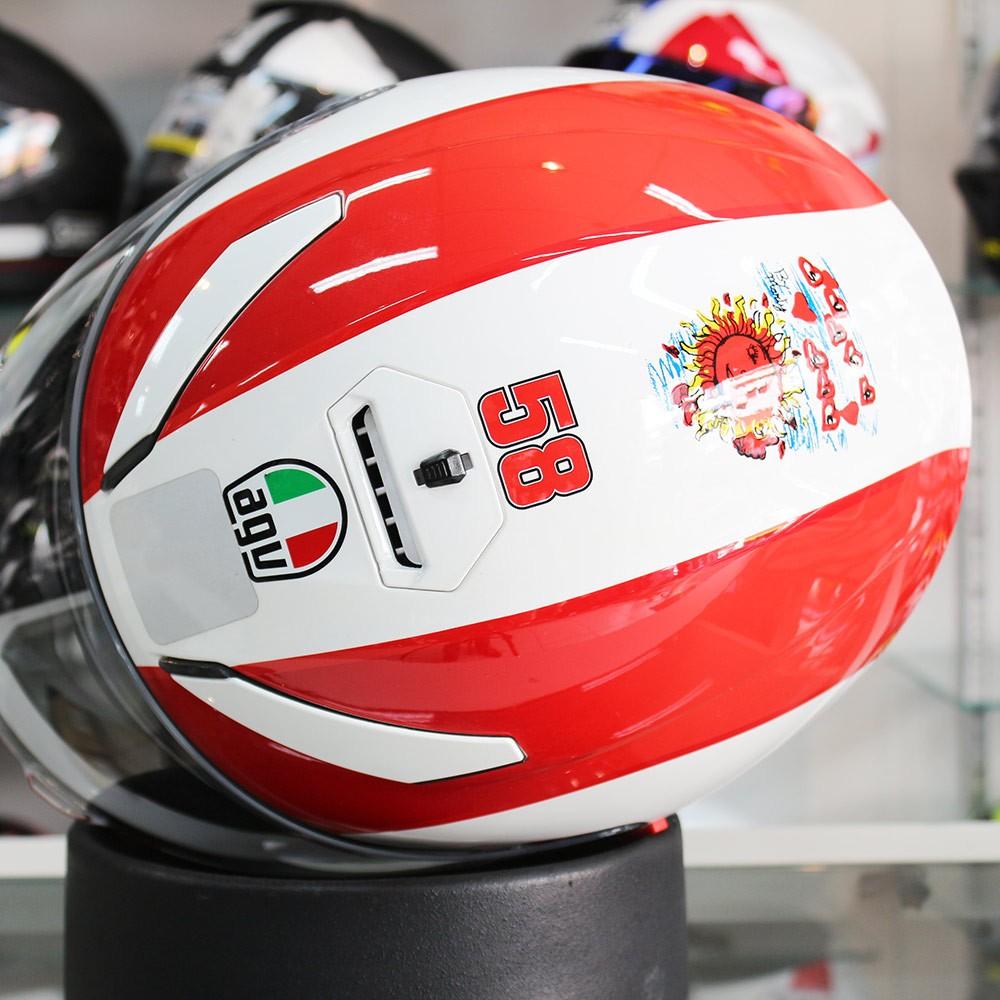0 Capacete AGV K-3 SV Simoncelli Tributo Com Viseira Solar  - Planet Bike Shop Moto Acessórios