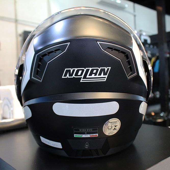 Capacete Nolan N104 Evo Scovery N-Com FLAT PRETO Escamoteável Cor 41 - Ganhe Balaclava Exclusiva!  - Planet Bike Shop Moto Acessórios