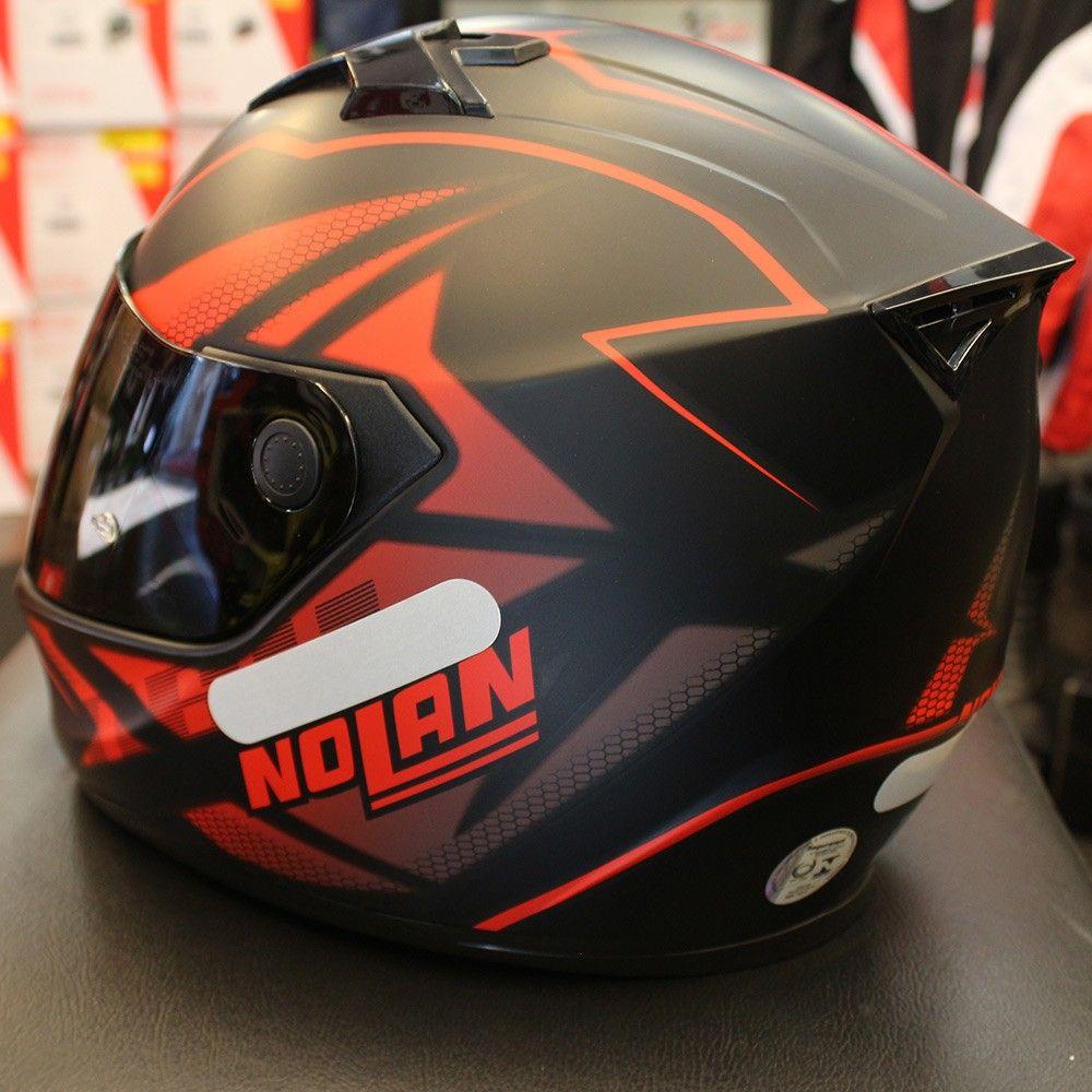 Capacete Nolan N64 Flazy Vermelho/Preto   - Planet Bike Shop Moto Acessórios