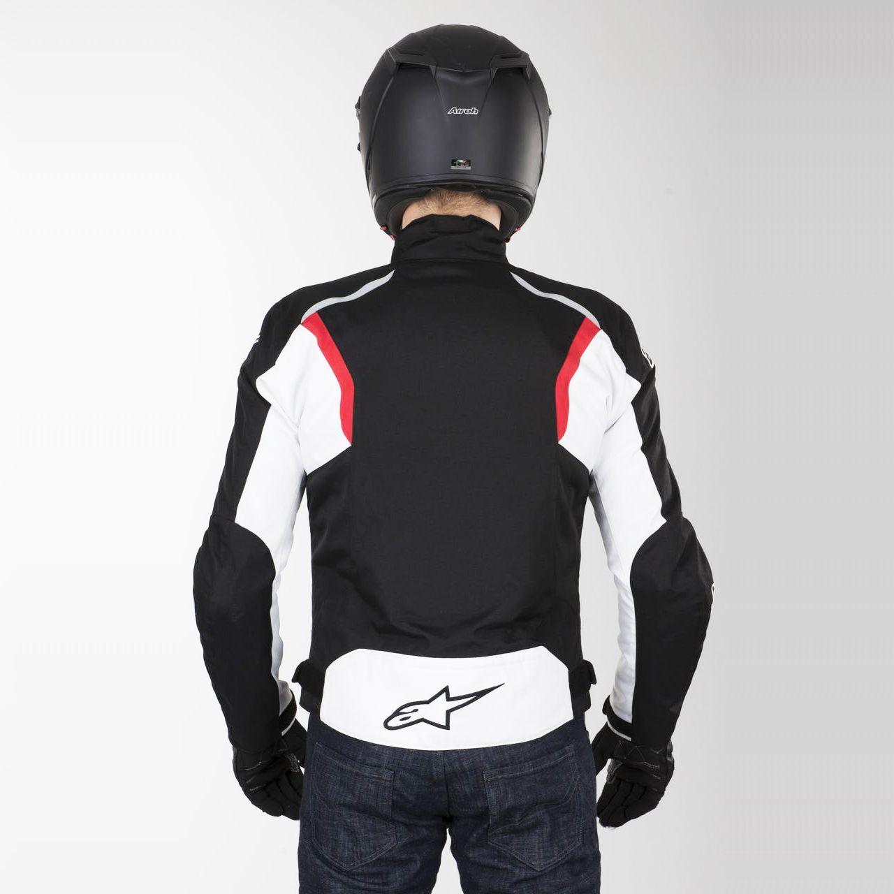 0 Jaqueta Alpinestars Fastback Impermeável (Preta/Branca/Vermelha)  - Planet Bike Shop Moto Acessórios