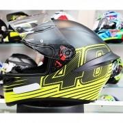 Capacete AGV K-1 Edge 46 Valentino Rossi Oficial Piloto (K1) - COM + 1,00 LEVE JUNTO A TOUCA BALACLAVA