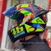 Capacete AGV K-1 Soleluna 17 Valentino Rossi Oficial Piloto (K1) - COM + 1,00 LEVE JUNTO A TOUCA BALACLAVA