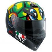 Capacete AGV K-3 SV Turtle Valentino Rossi C/ Viseira Interna Solar (Tartaruga)
