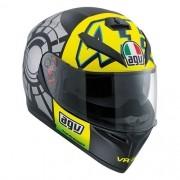 Capacete AGV K3 SV Winter Test 12 C/ Viseira Interna Solar - Réplica Oficial Valentino Rossi