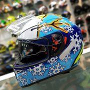 Capacete AGV K3 SV Winter Test 16 C/ Viseira Interna Solar - Réplica Oficial Valentino Rossi