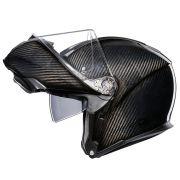 Capacete AGV Sportmodular Carbon Solid Articulado