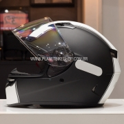 CAPACETE BELL QUALIFIER DLX RALLY MATTE (BLACK WHITE)