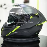 Capacete Nexx Sx100R Shortcut Cinza/Neon - Acompanha Pinlock (Película Anti-Embaçante)