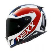 CAPACETE NEXX XR2 TRION BRANCO/AZUL Tri-Composto