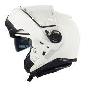 Capacete Nolan N100-5 Classic Branco Escamoteável C/ Viseira Solar - Ganhe Touca Balaclava