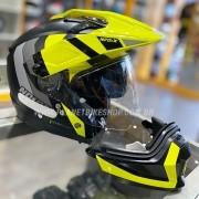 Capacete Nolan N70-2x Decurio Preto/Amarelo Off-Road / Remove Queixeira