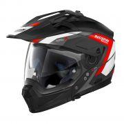Capacete Nolan N70-2x Grandes Alpes - Preto/Vermelho/Fosco
