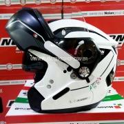 Capacete Nolan N90 Straton Branco Escamoteável Com Óculos Interno - (Acompanha Pinlock)