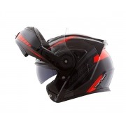 Capacete Norisk FF345 Route Motion Black/Orange (Articulado Com Viseira Solar Interna)