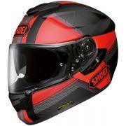 Capacete Shoei GT-Air Exposure TC1 Black/Red com Pinlock e Viseira Solar