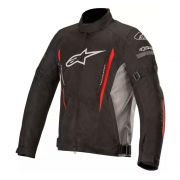 Jaqueta Alpinestars Gunner V2 Black/Grey/Red - Impermeável