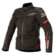 jaqueta Alpinestars Stella Andes Pro DRYSTAR®  AIR TECH COMPATIBLE - PRETO/VERMELHO - IMPERMEÁVEL