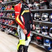 Macacão Tutto Moto Racing 2 pçs Vermelho/Amarelo
