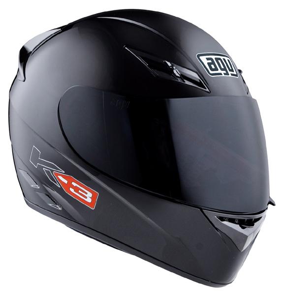Capacete AGV K-3 Mono Black   - Planet Bike Shop Moto Acessórios