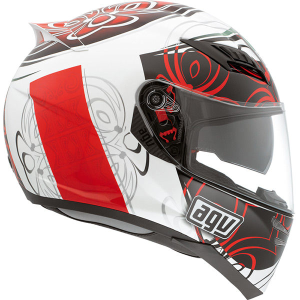 Capacete AGV Horizon Absolut White Red - Só 62 -XL (Obs: Capacete com pequenos detalhes - consulte nossos atendentes)