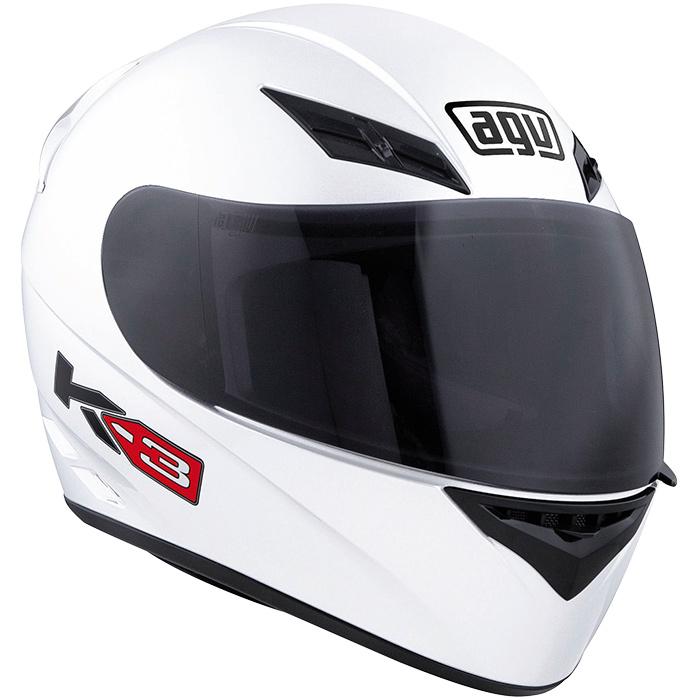 Capacete AGV K-3 Mono White - Só 60 e 62  - Planet Bike Shop Moto Acessórios