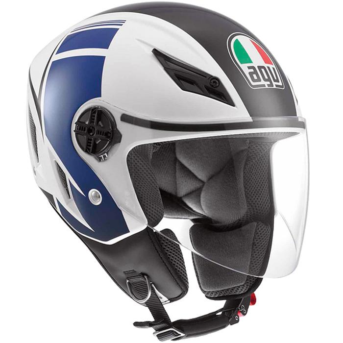 Capacete AGV Blade FX Branco/Azul   - Planet Bike Shop Moto Acessórios