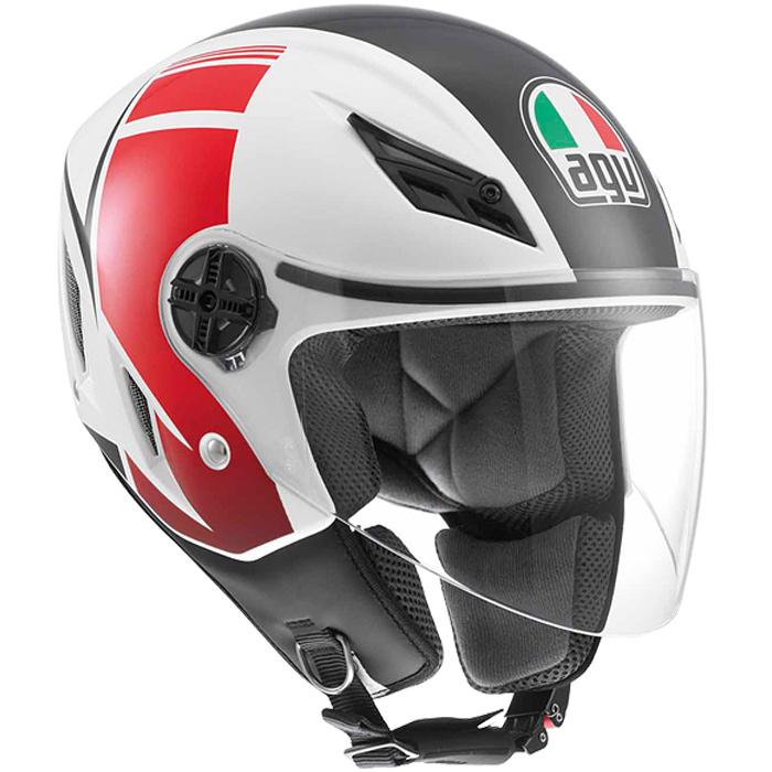 Capacete AGV Blade FX Branco/Vermelho  - Planet Bike Shop Moto Acessórios
