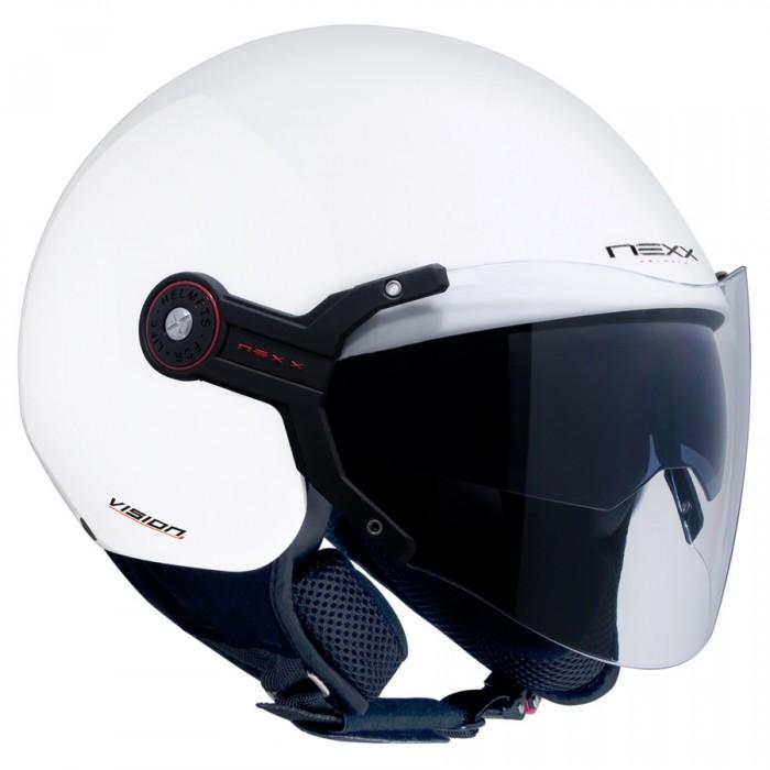 Capacete Nexx X60 Vision Flex Branco C/ Viseira solar NOVO!