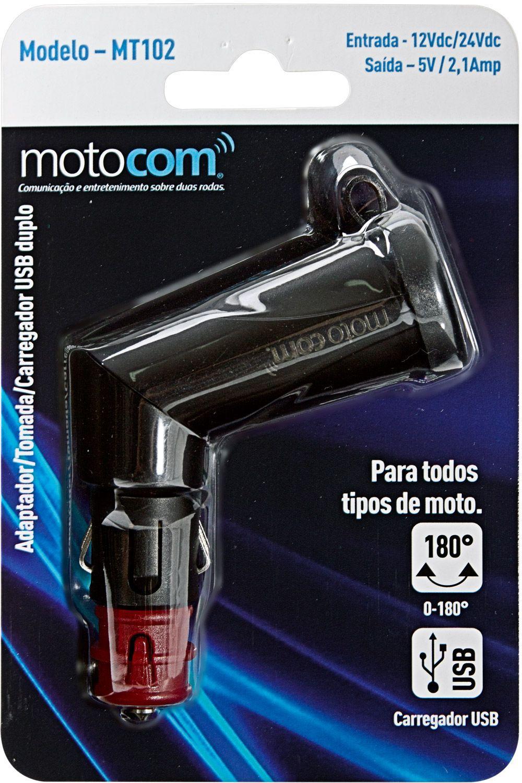 Adaptador/Tomada/Carregador USB MOTOCOM MT 102