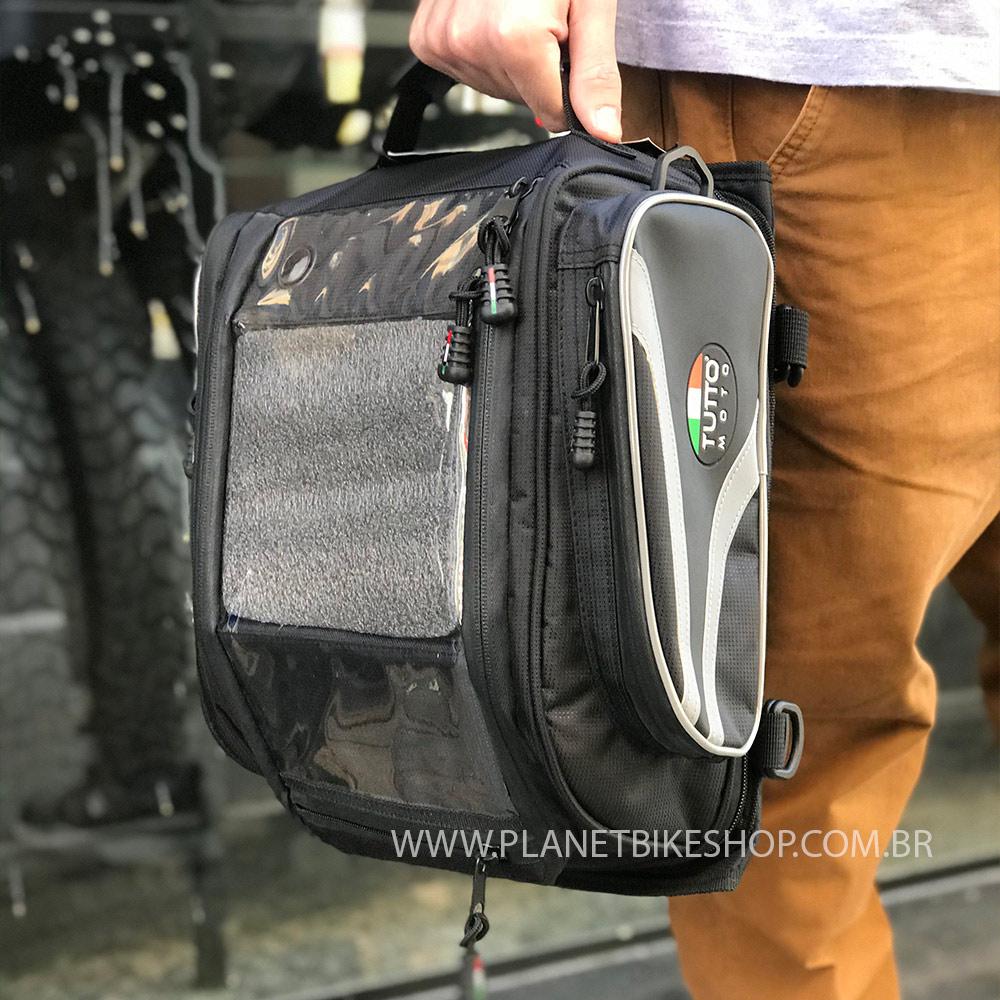 Bolsa Tutto Moto TB02 para tanque/traseira - 17LT Expansível e Magnética - Ofertaço  - Planet Bike Shop Moto Acessórios