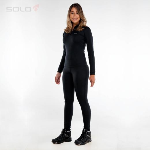 Calça Segunda pele Solo Feminina X-Thermo DS Preta  - Planet Bike Shop Moto Acessórios