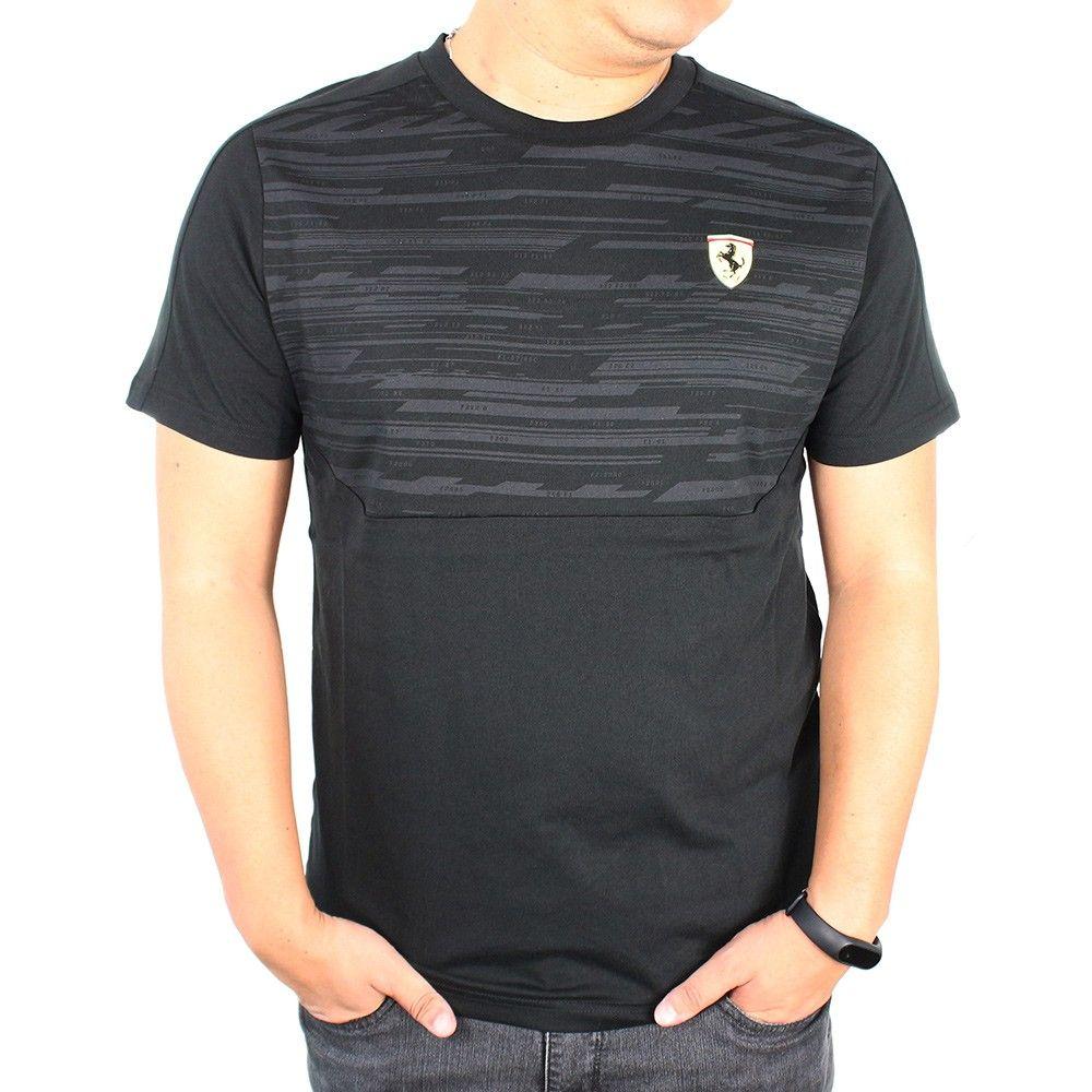 Camiseta Ferrari STYFR-SF TEE Puma Black Oficial  - Planet Bike Shop Moto Acessórios