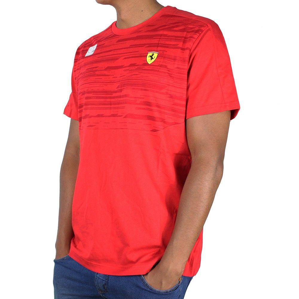 Camiseta Ferrari STYFR-SF TEE Puma Rosso Corsa Oficial  - Planet Bike Shop Moto Acessórios