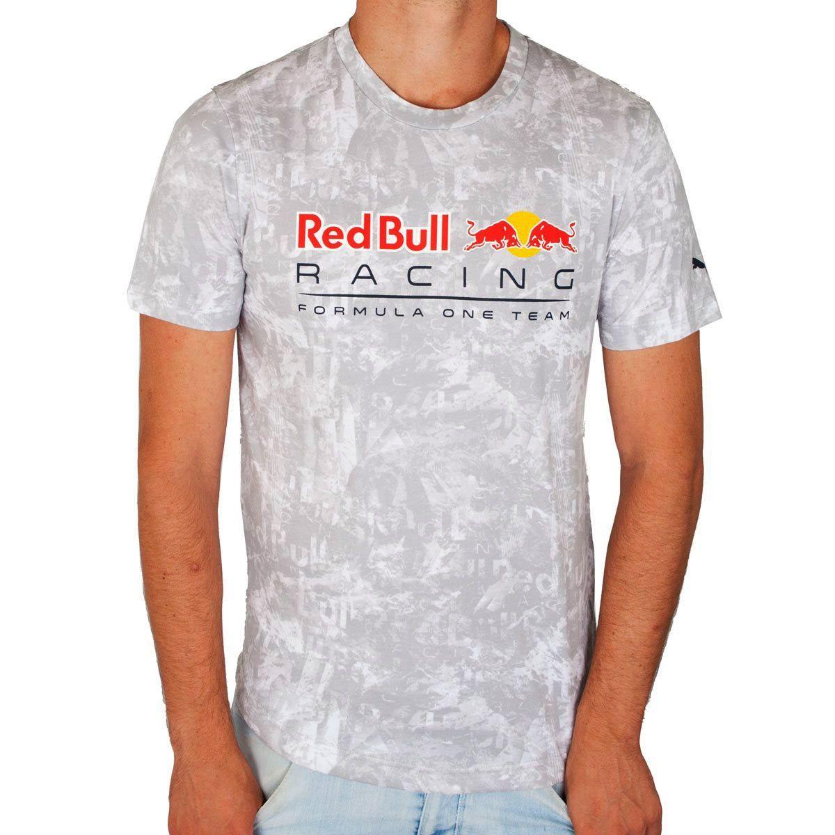 Camiseta RedBull STYFR-RBR ALLOVER TEE Puma White Oficial  - Planet Bike Shop Moto Acessórios