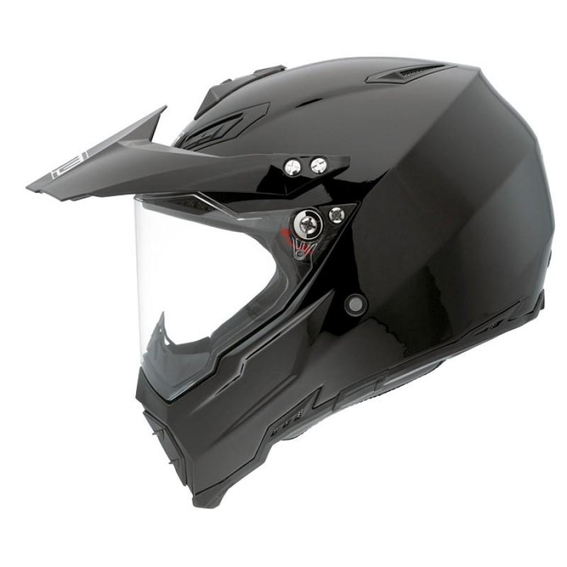 Capacete AGV AX8 Duo Evo Mono Black   - Planet Bike Shop Moto Acessórios