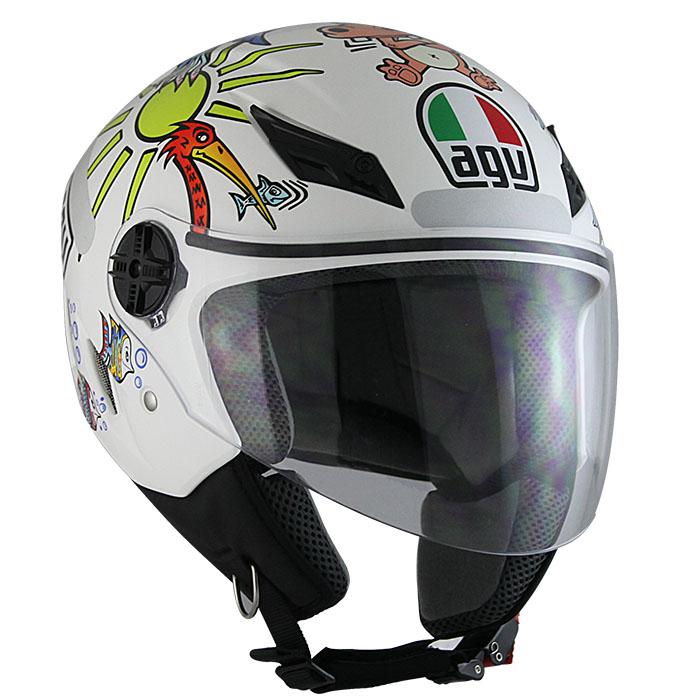 Capacete AGV Blade White Zoo Valentino Rossi   - Planet Bike Shop Moto Acessórios