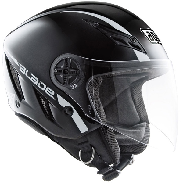 Capacete AGV Blade Mono Black (Preto Brilho)  - Planet Bike Shop Moto Acessórios