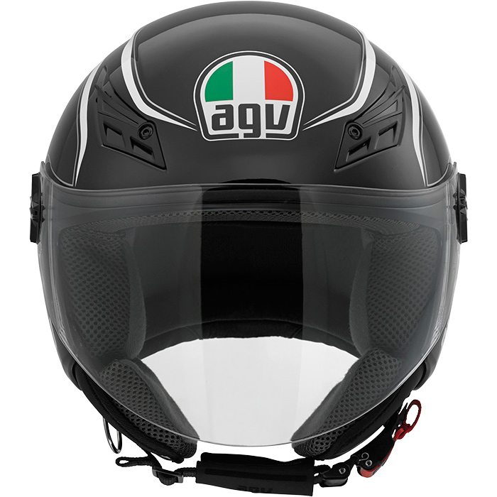 Capacete AGV Blade Tab Black/White  - Planet Bike Shop Moto Acessórios