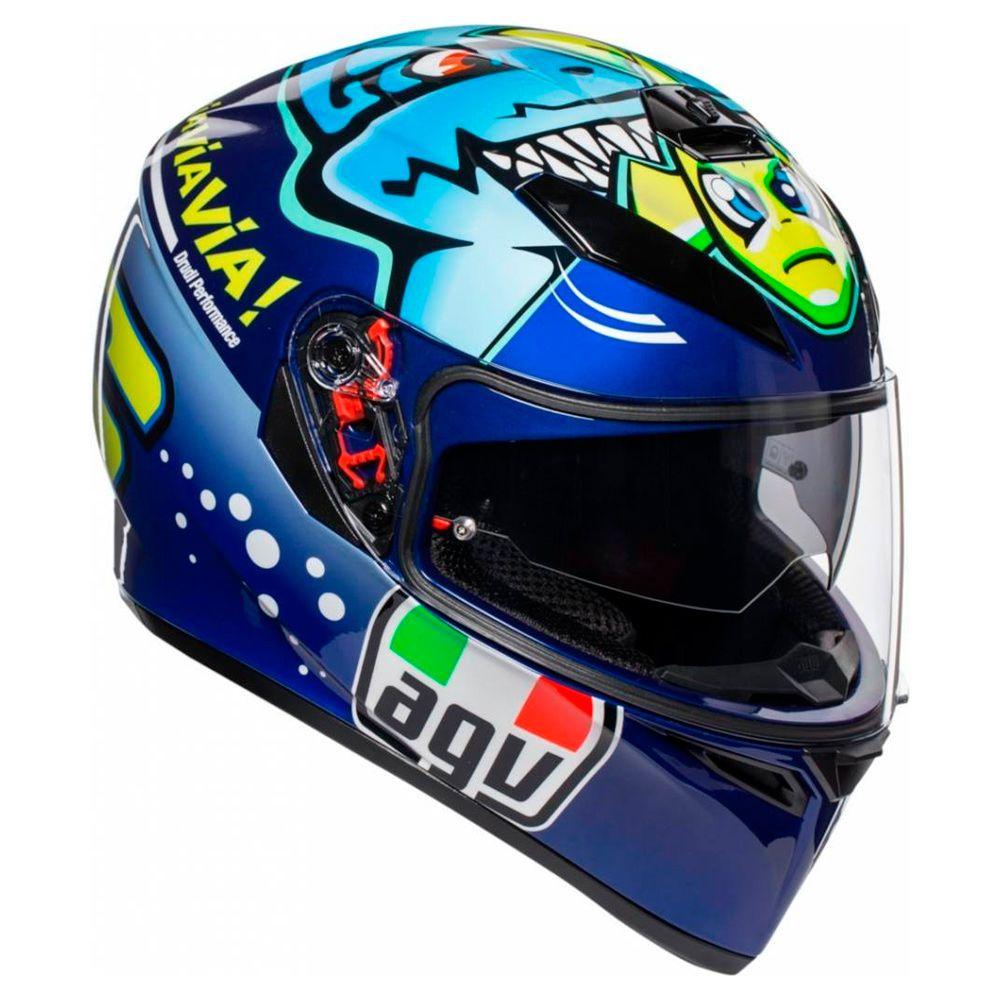 Capacete AGV K3 SV Misano 2015 - Réplica Oficial Valentino Rossi  - Planet Bike Shop Moto Acessórios