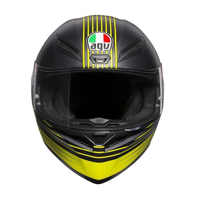 Capacete AGV K-1 Edge 46 Valentino Rossi Oficial Piloto (K1) - COM + 1,00 LEVE JUNTO A TOUCA BALACLAVA  - Planet Bike Shop Moto Acessórios