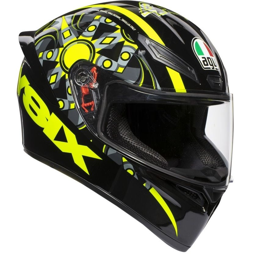 Capacete AGV K-1 Flavum 46 Valentino Rossi (k-1 - COM + 1,00 LEVE JUNTO A TOUCA BALACLAVA)  - Planet Bike Shop Moto Acessórios