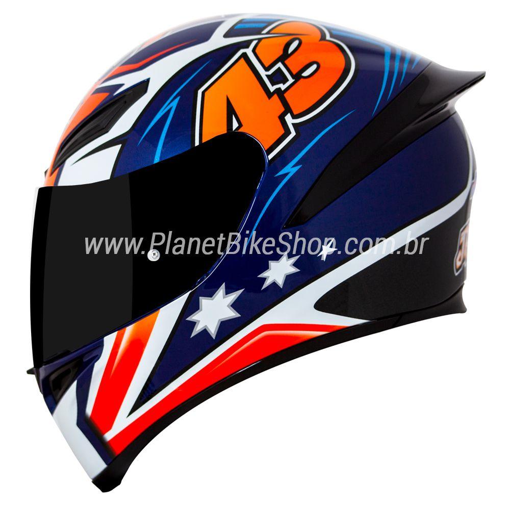 Capacete AGV K-1 Jack Miller Oficial Piloto (k1)  - Planet Bike Shop Moto Acessórios