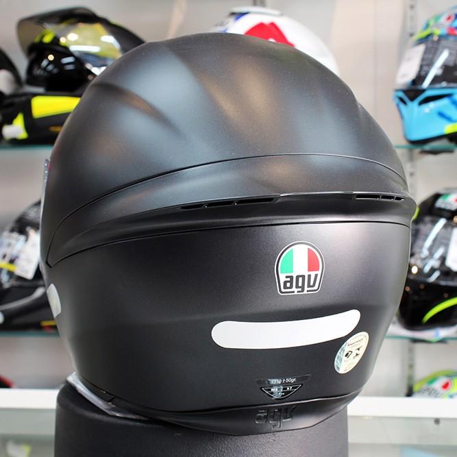 Capacete AGV K-1 Mono Preto Fosco (k1 - COM + 1,00 LEVE JUNTO A TOUCA BALACLAVA)  - Planet Bike Shop Moto Acessórios