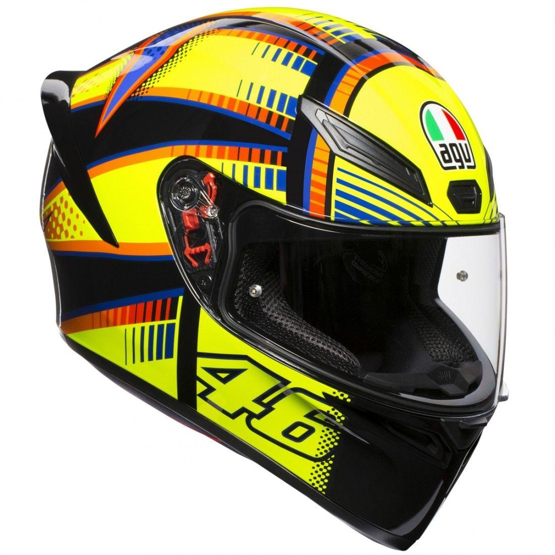 Capacete AGV K-1 Soleluna Valentino Rossi LANÇAMENTO!!!  - Planet Bike Shop Moto Acessórios