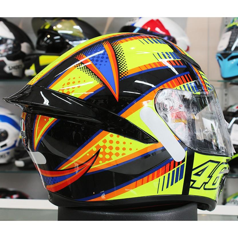 Capacete AGV K-1 Soleluna 46 Valentino Rossi (k1 - COM + 1,00 LEVE JUNTO A TOUCA BALACLAVA)  - Planet Bike Shop Moto Acessórios