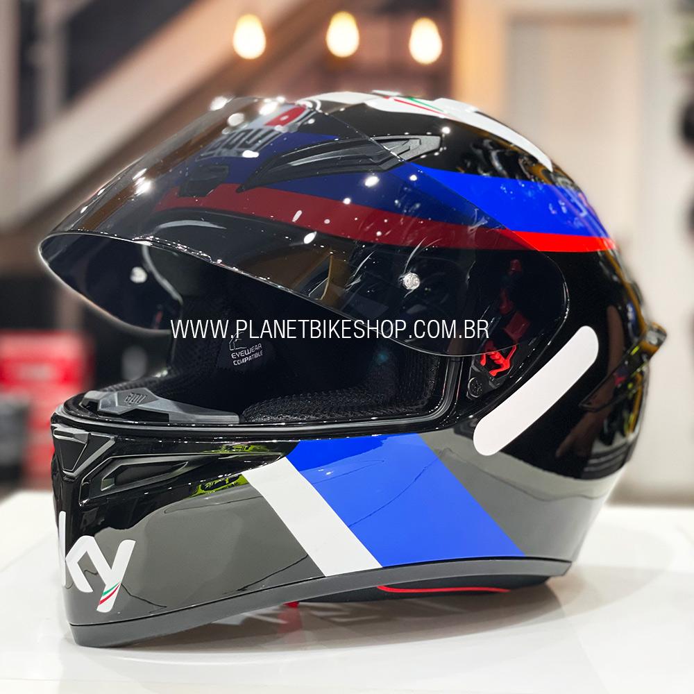 Capacete AGV k-1 VR46 Racing Team  - Planet Bike Shop Moto Acessórios